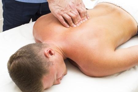 Man receiving a sports massage