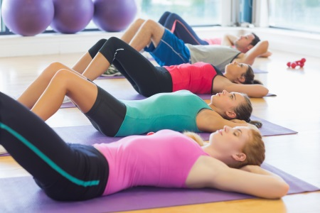 Group of people participating in a studio class