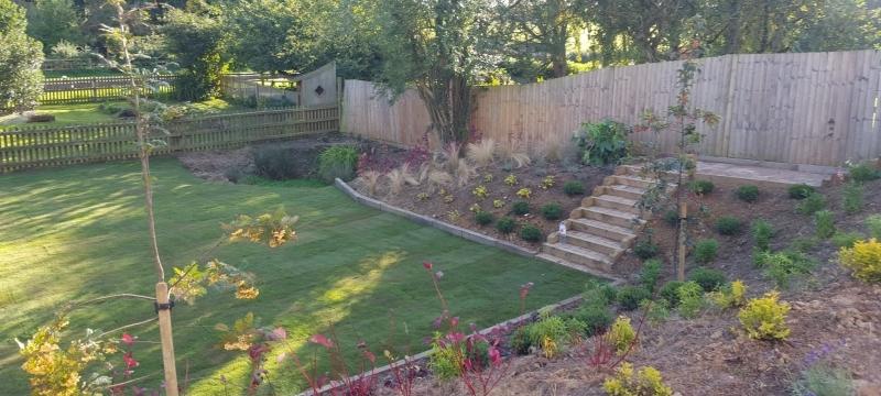 A Modern Landscaped Garden