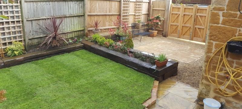 A New Landscaped Garden.