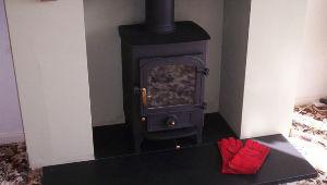 Stone Hearth & Fireplace