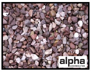 Picture of gravel with company branding