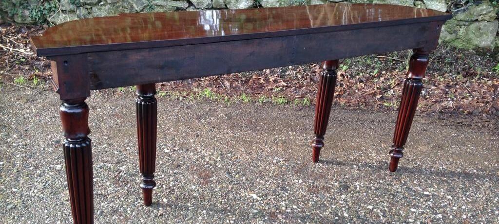 Freshly Polished Wooden Desk