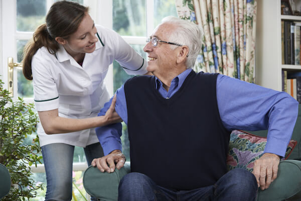 Carer with Resident of Care Home