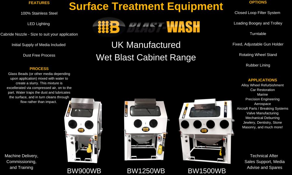 Wet Blast Cabinet Range