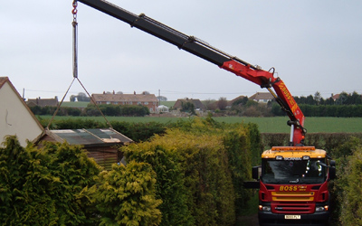 Crane Lorry and Site Storage