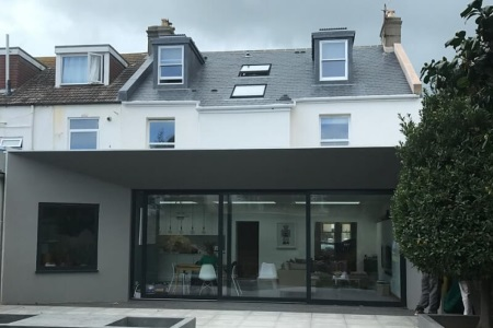 Newly built house extension