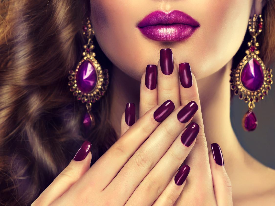 Nails. Acrylic , Shellac , Minx