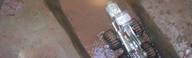Robot doing a drain inspection.