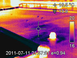 Thermal Imaging discovering missing insulation causing internal Dew Point condensation and leaks resulting in ceiling mould