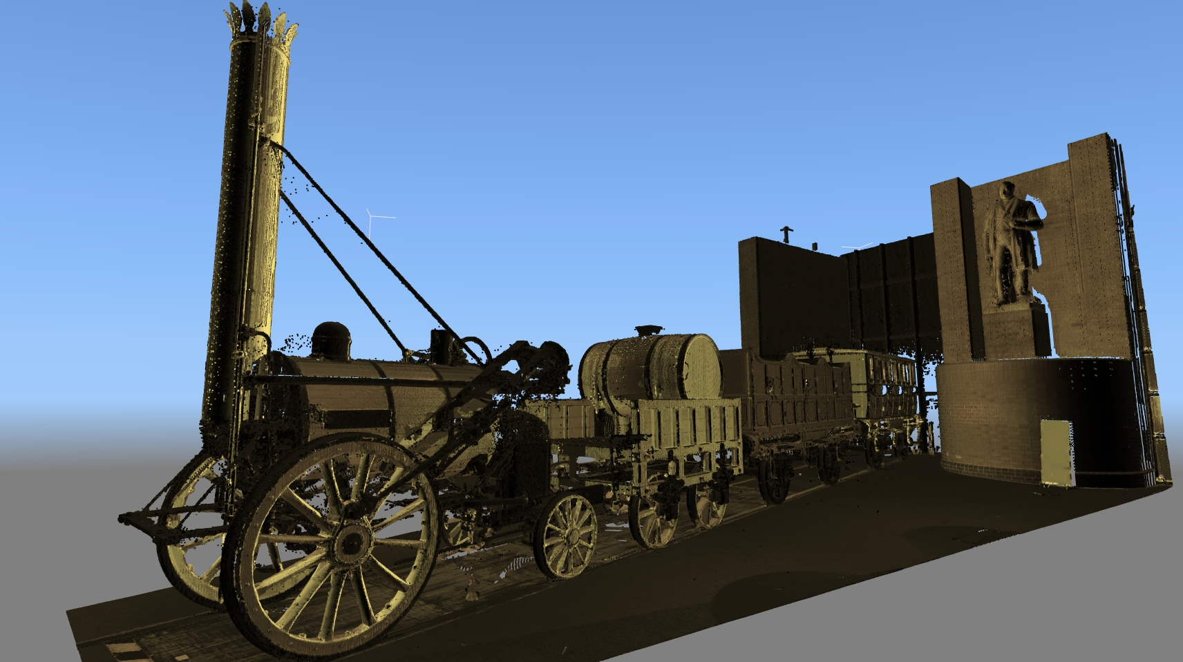 3d Model of old train.