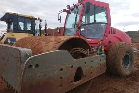 Plant Machinery with Newly Replaced Windscreen