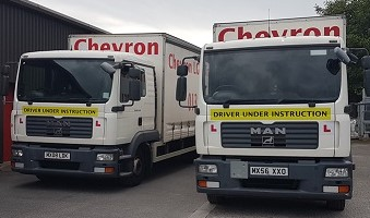 2 Chevron Training Trucks