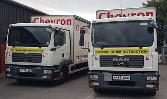 2 Chevron Training Trucks