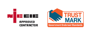 NICEIC Approved Contractor and TrustMark Government Endorsed Standards logo