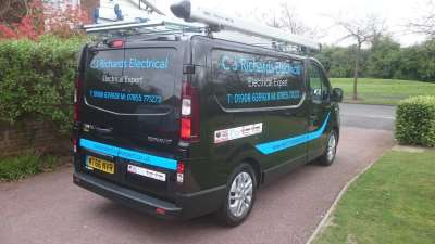 C J Richards Electrical Elecrician Van Milton Keynes