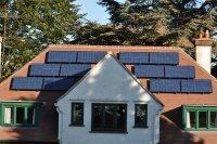 Solar Energy Panels on House