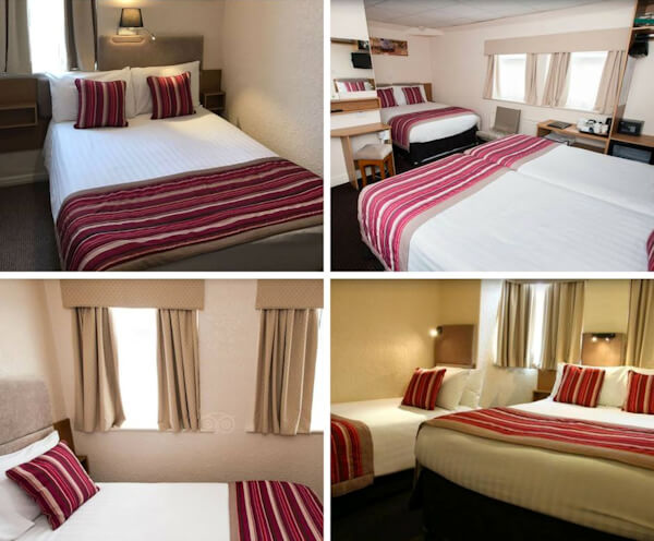 Collage of Room Interior in Clifton Court Hotel