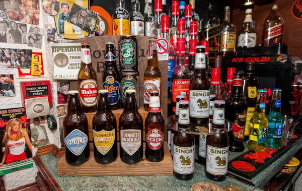 Beer selection at the Pirates Rum Pub