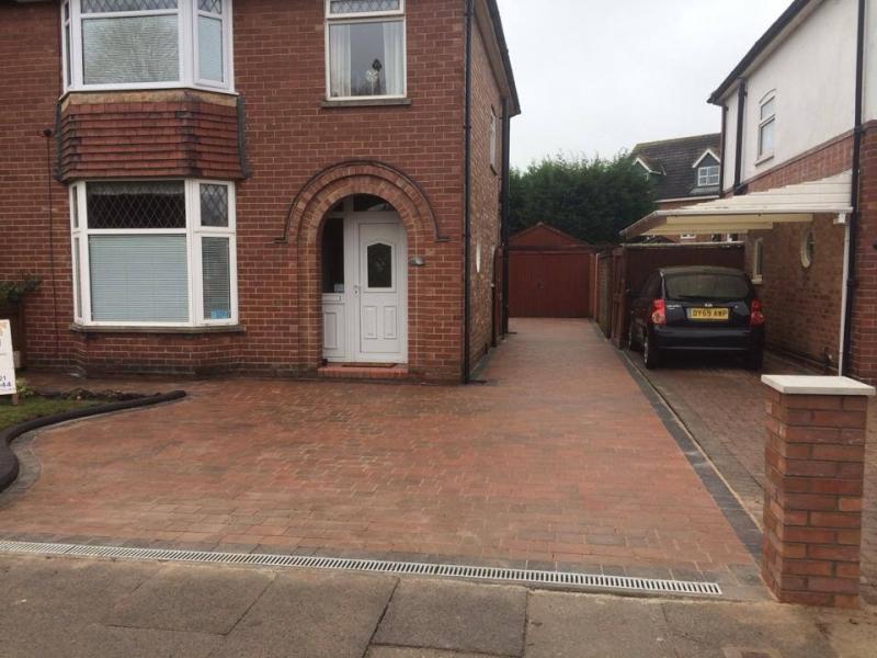 red brick style driveway