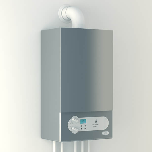 Boiler on wall