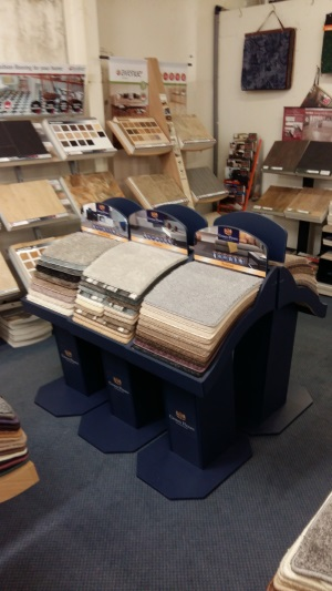 Carpet Display inside shop