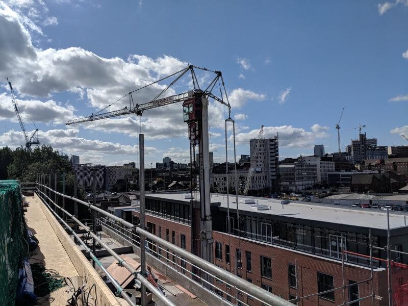 erect mobile tower crane