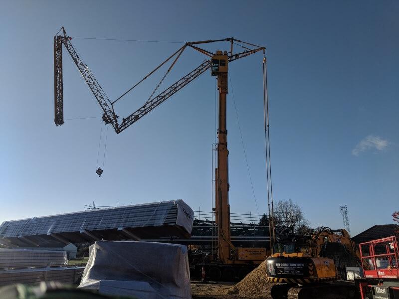 3 axle mobile tower crane