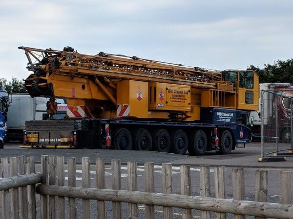 stationary mobile tower crane