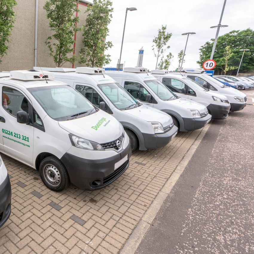 Our fleet of refrigerated sandwich vans travel a daily route, stopping at a designated time to allow you to purchase breakfast, lunch or just a quick snack.