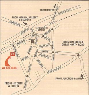 Map of Down Memory Lane Shop Location