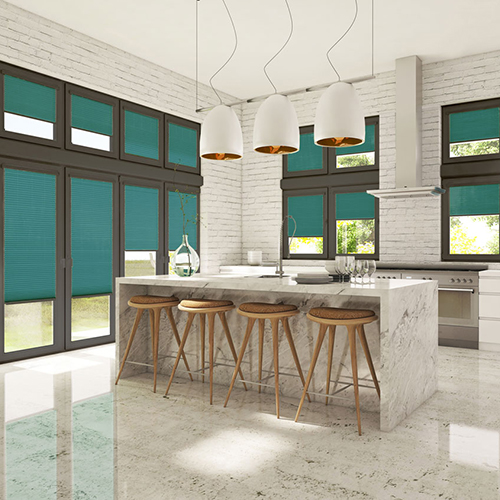 Blinds in a kitchen