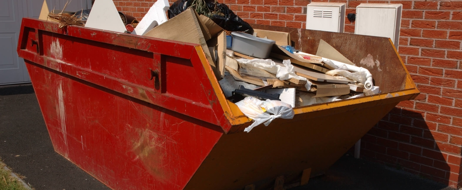 A Skip ready to be collected.