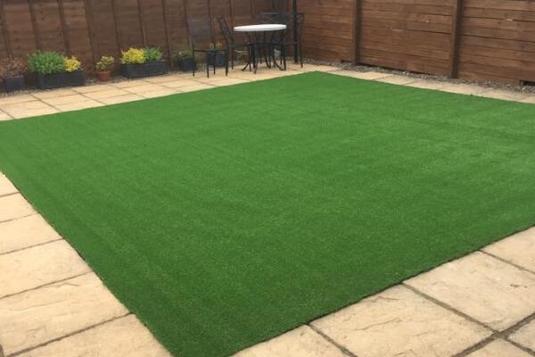 Freshly Laid Astroturf Grass