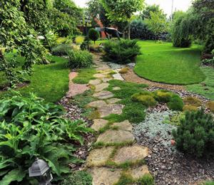 Natural looking stone path way