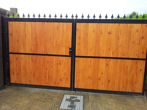 Gates installed by Aaron Gates and Railings