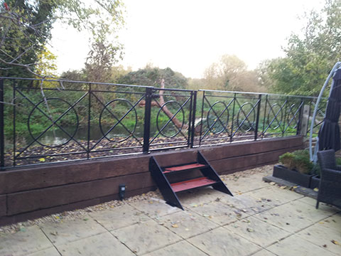 Railings installed by Aaron Gates and Railings