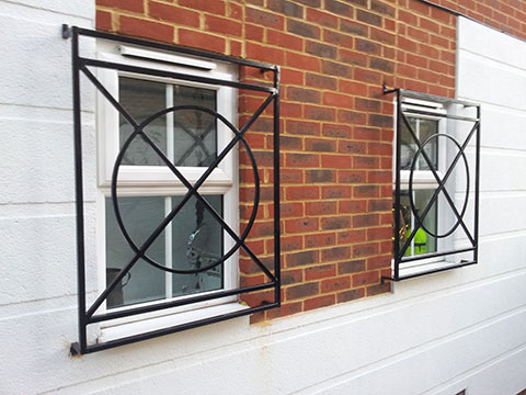 Security grilles installed by Aaron Gates and Railings