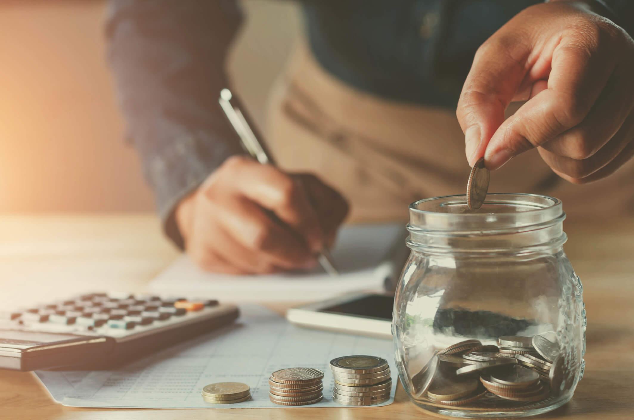 business accountin with saving money.