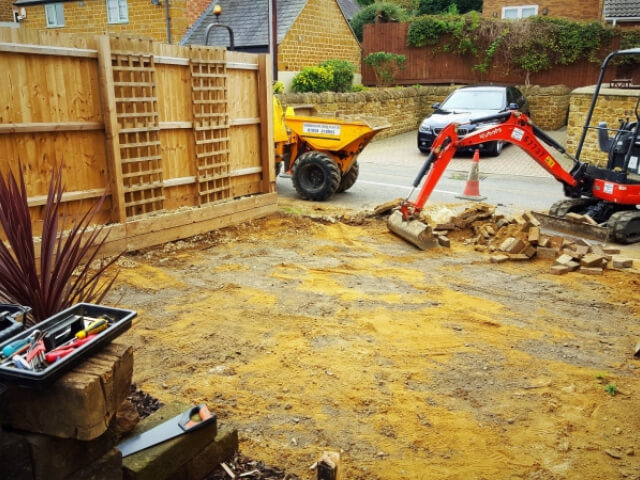 Preparing a Garden for Grass which needs to be laid.
