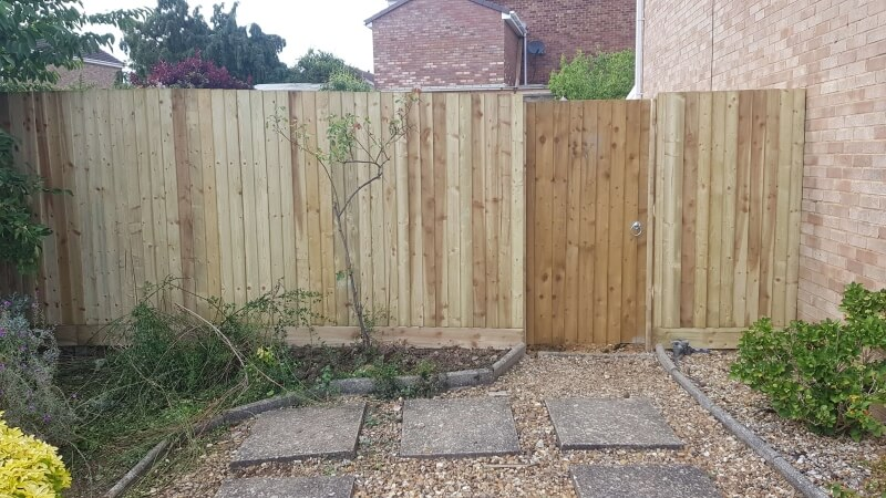 A Modern Garden Fence.