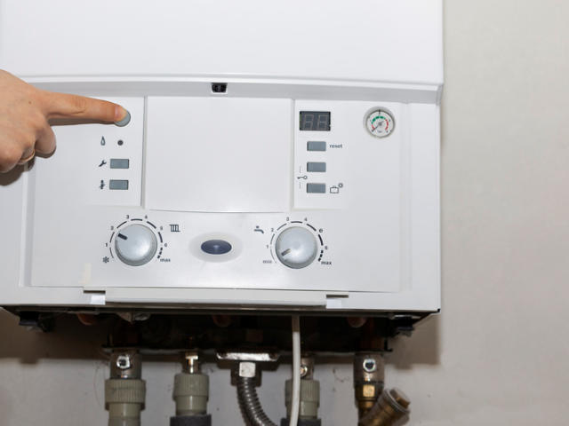Control panel of the gas boiler