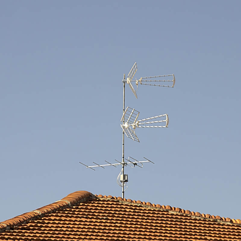 A Aerial on top of a house.