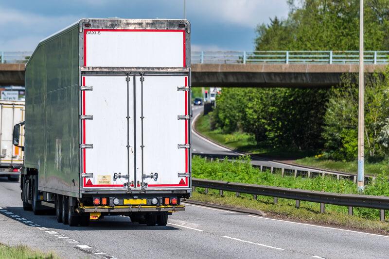 Truck driving on motorway
