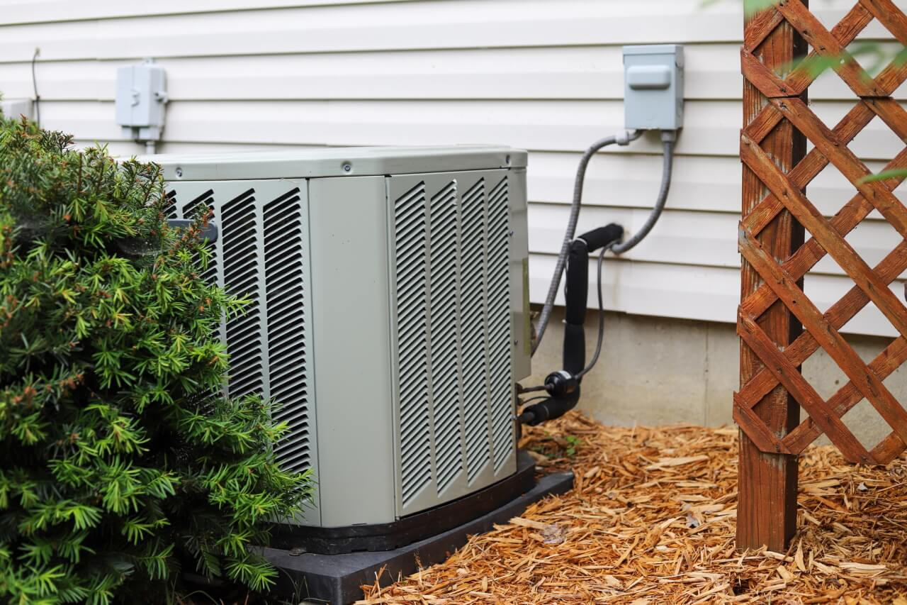 Air Conditioning unit in house garden