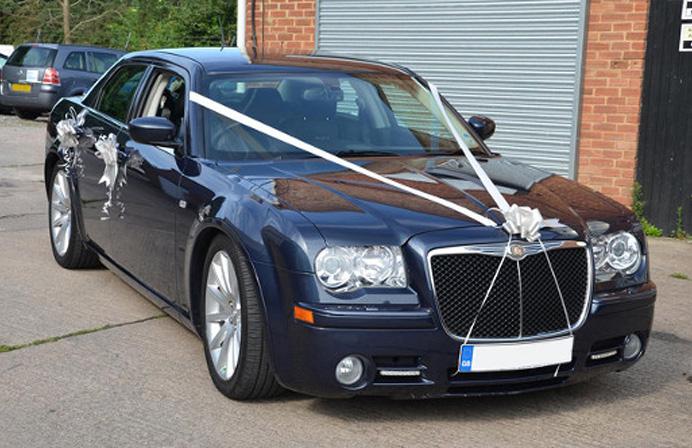 Our Chrysler wedding car