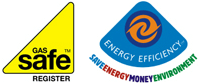 Gas Safe and Energy Efficiency logos