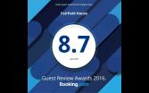 Booking.com 8.7/10 award