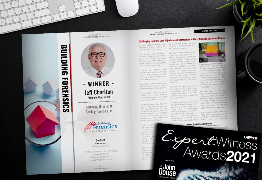 Jeff Charlton has recently been recognised in the @lawyermonthly Expert Witness awards