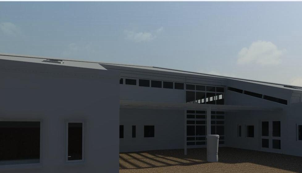 close shot of 3D building